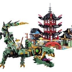 Filme ninja templo bloco de construção ninjage figuras compatível ninjagoe cidade técnica tijolos brinquedos educativos para a criança