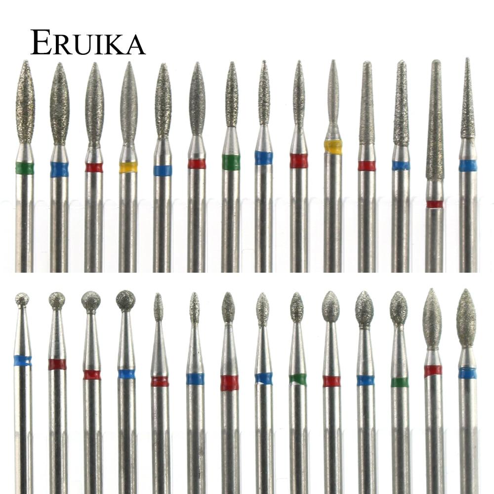 29 типов алмазных керамических сверл для ногтей фреза для маникюра роторные биты кутикулы чистые аксессуары пилки для ногтей инструменты для искусства