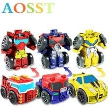 Flash transformer Mini-diamant voiture Robot modèle jouet pour garçons et enfants Garage Kit Non télécommande déformée voiture enfants jouet