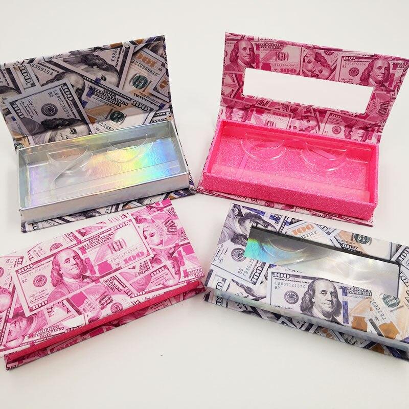 NEW 20/pack 25mm Eyelash Packaging Box wholesale Lash Boxes Packaging Faux cils 3d Mink eyelashes magnetic case Makeup Storage