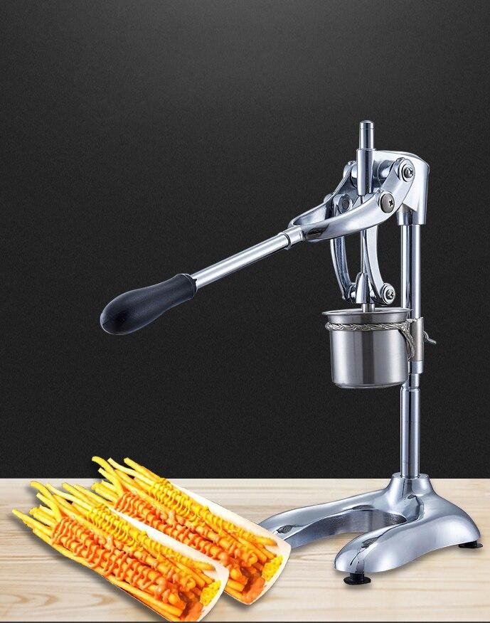 ماكينات تصنيع البطاطس المقلية الطويلة جدًا من الفولاذ المقاوم للصدأ أطول قدم البطاطس المهروسة جهاز بثق الرقائق المقلية