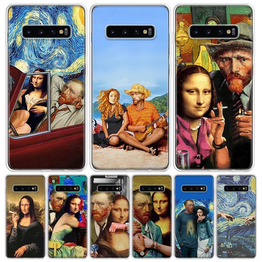 Van Gogh Mona Lisa Funny Art Phone Case For Samsung Galaxy A50 A70 A30S A51 A71 A10 A20E A40 A90 A20S M30S A6 A7 A8 A9 Plus Coqu