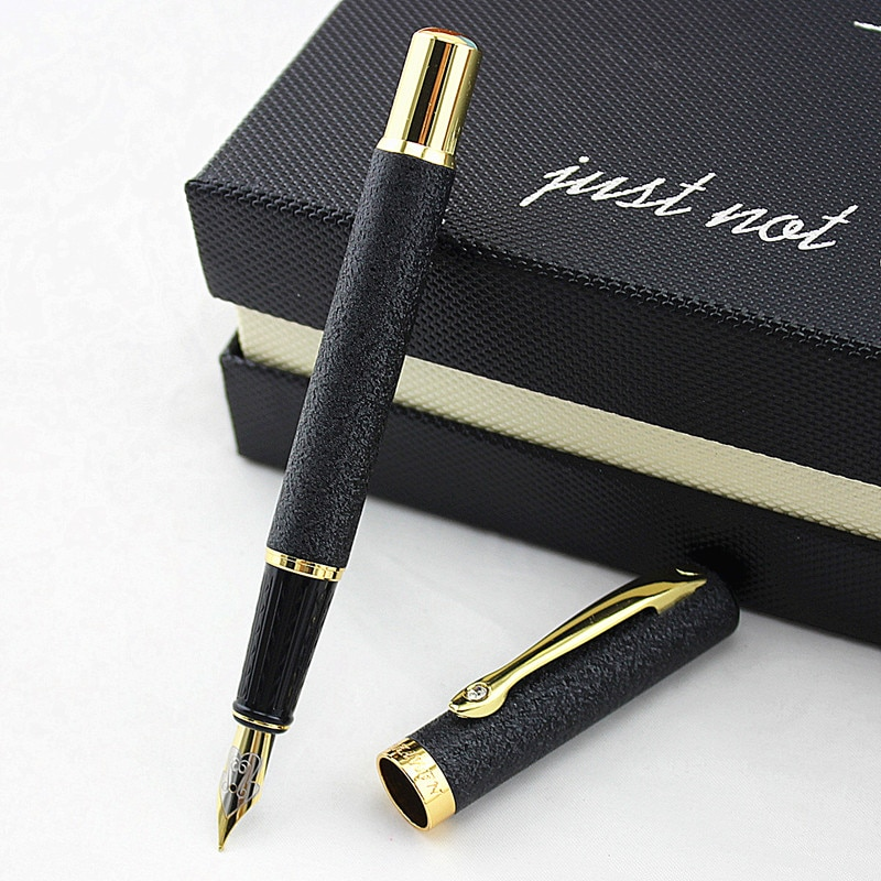 Роскошный Металлический алмазный Золотой зажим 0,5 мм перьевые ручки многоцветный для школы, офиса, письма, Подарочные принадлежности, черни...