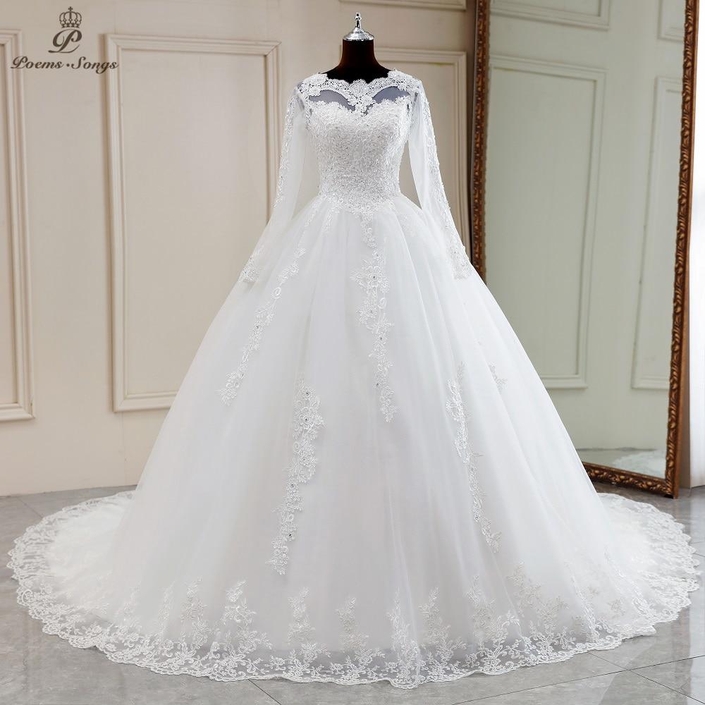 مثير فاخر أنيق طويل الأكمام فستان الزفاف بوهو الزواج فستان رداء دي ماري vestidos دي نوفيا ثوب زفاف فستان الزفاف