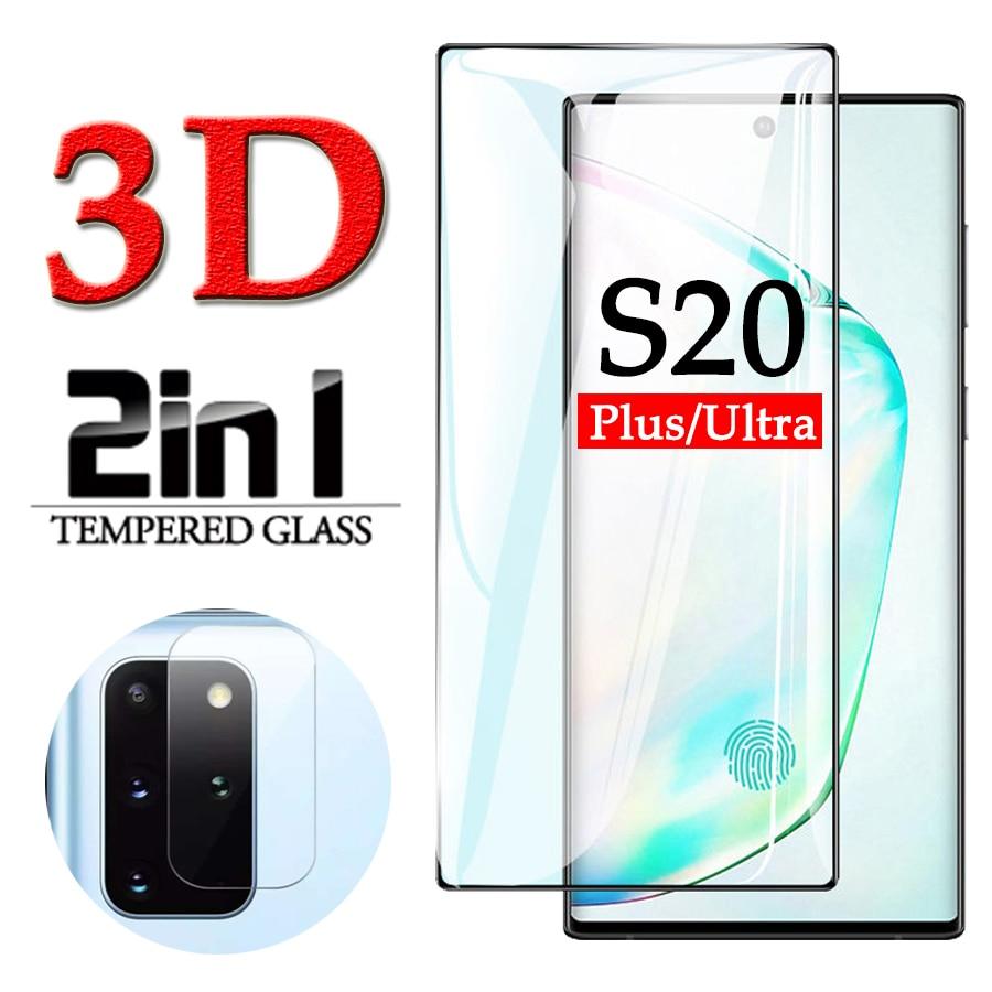 3D protectora de vidrio en el para samsung S20 plus protector de...