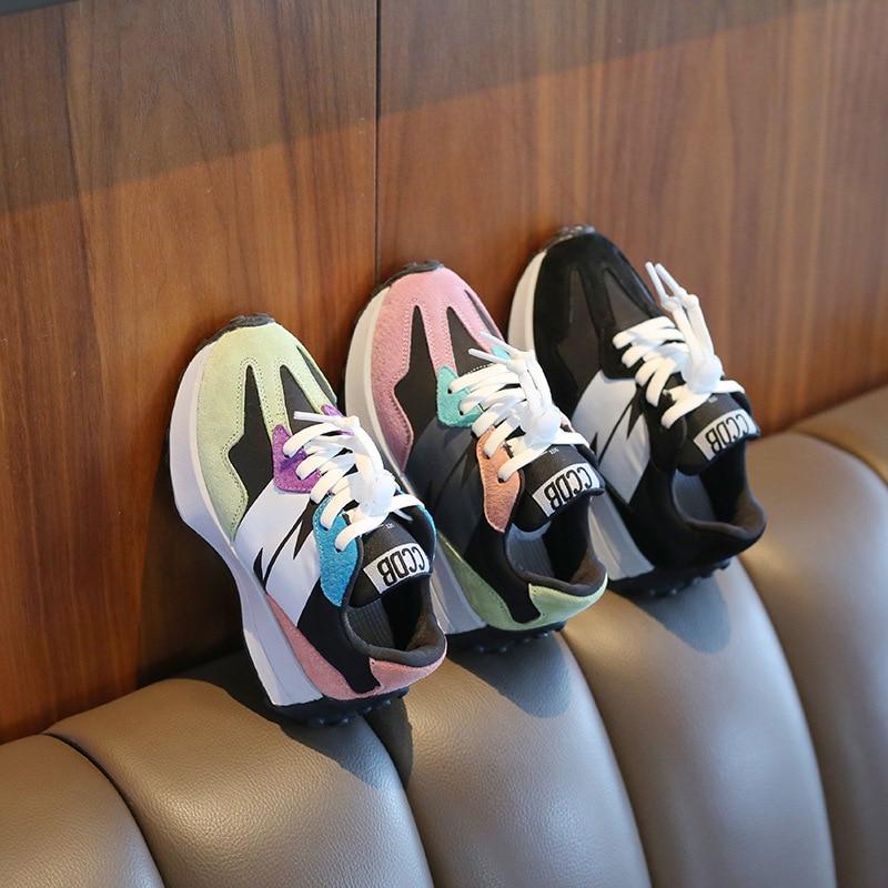 الفتيات أحذية رياضية ربيع الخريف جديد للأطفال حذاء كاجوال للأولاد ماركة الموضة للأطفال حذاء كاجوال أحذية رياضية