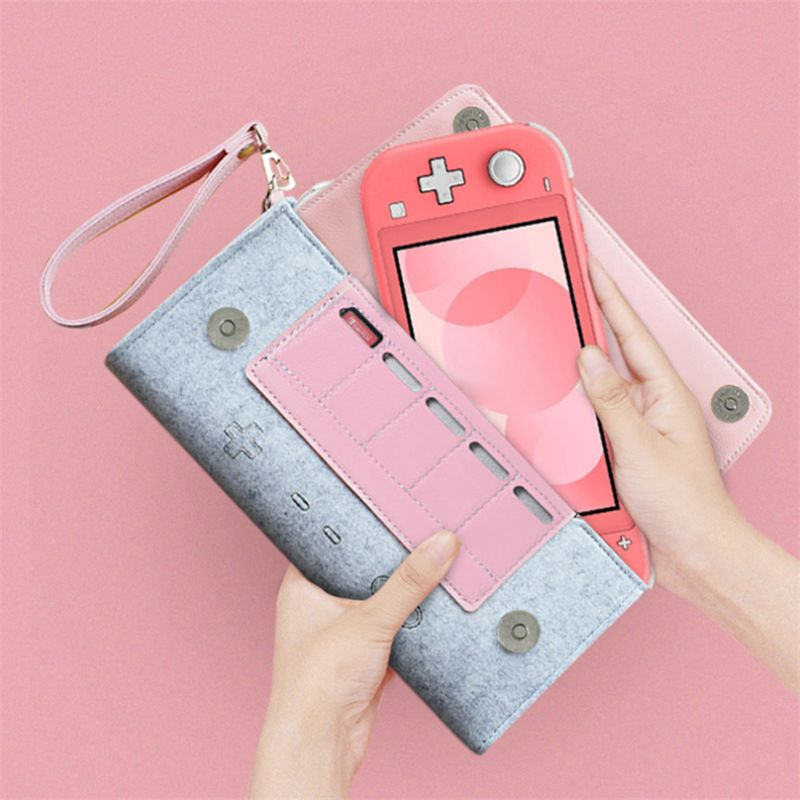 ns travel carrying case 19 game shell card holders pouch bag for nintend switch console and accessories joycon case thumb grips For Storage Bag For -Nintend Switch Lite Cortex Case NS Lite Console Carrying Portable Travel Bag Game Accessories