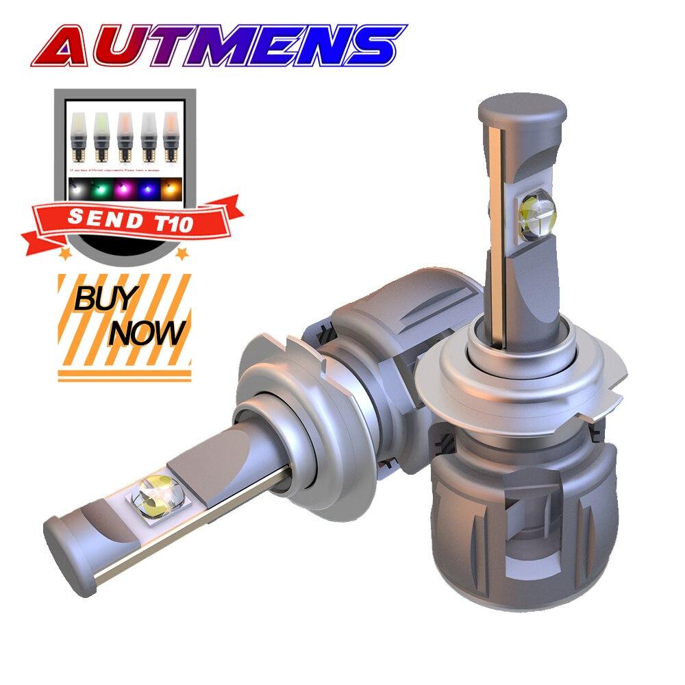 Autmens XHP70 LED faro 12000lm X70 lámpara Led H4 H7 H11 H13 H16 9004, 9005, 9006, 9007 lente Chips LED faro de coche