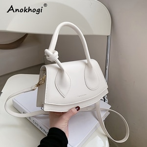 New Arrival Women Niche Shoulder Bag Knotted Handle Hasp Shoulder Bag Ladies Fashion Handbag ML90