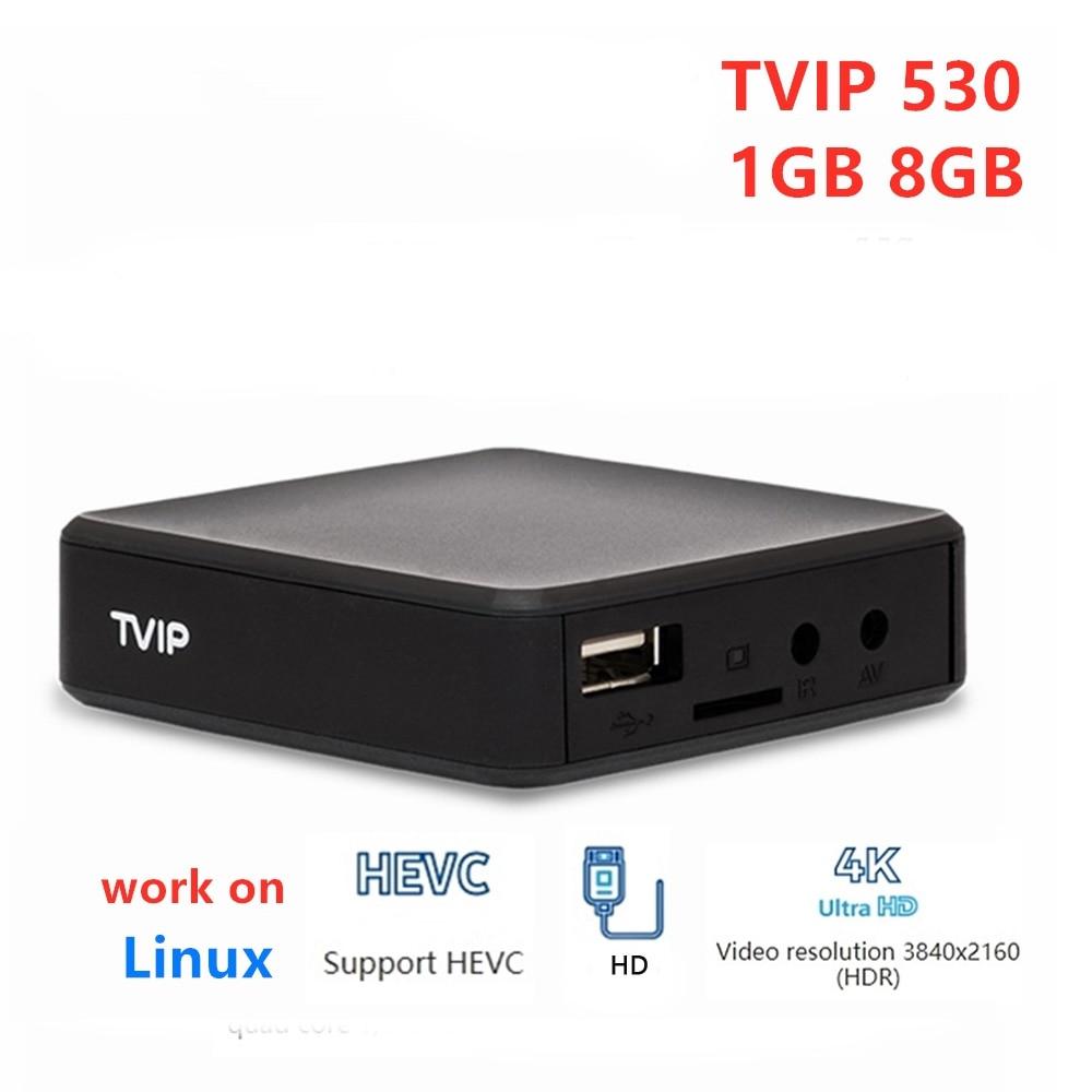 TVIP530 TVIP 530 caja de 1GB 8GB Amlogic S905W Quad Core caja de Linux TV TVIP S-caja de V.530 4K Media player