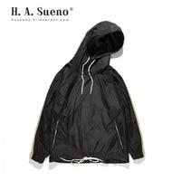 high street mens black hoodies loose fit thin men clothes drop shoulders sweatshirts for men drop shipping