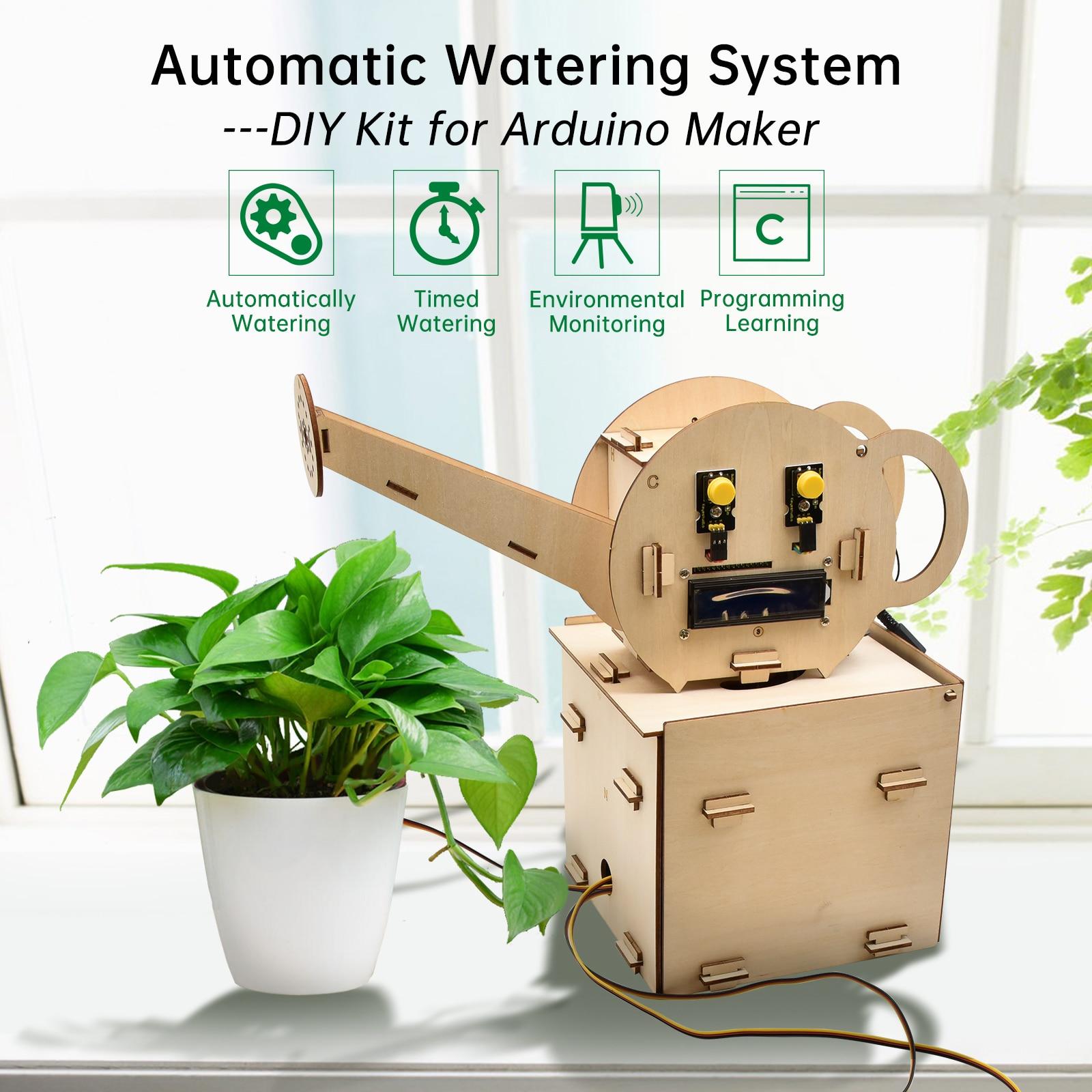Keyestudio Automatic Watering Starter  Kit Learning Kit for Arduino Watering Kit STEM DIY Projects Programming Kit