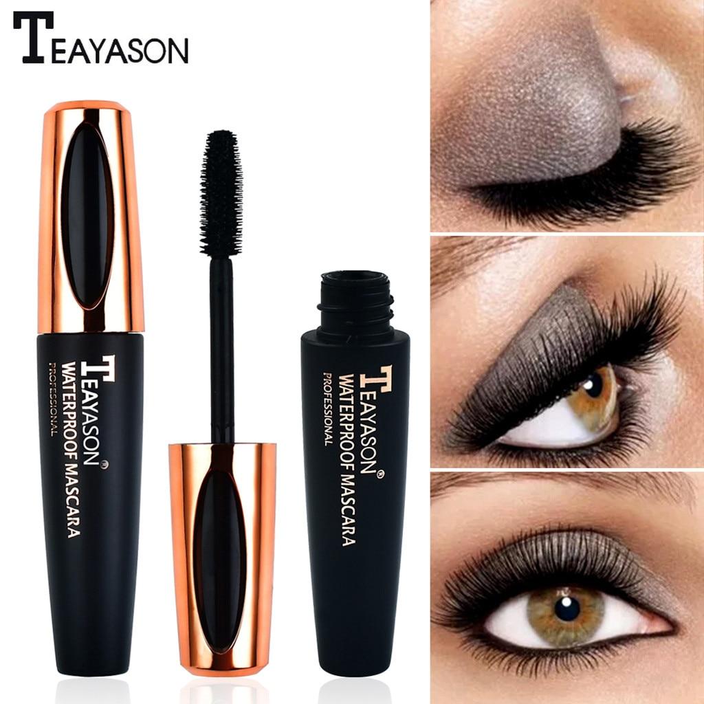 Negro a prueba de agua maquillaje pestañas rimel largo y rizado extensiones de pestañas largas pestañas rizadas impermeables negro GK