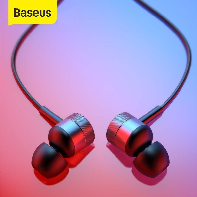Baseus H04 écouteur stéréo casque dans loreille écouteurs 3.5mm Jack fil écouteur avec micro pour iPhone 6s Xiaomi Samsung fone de ouvido