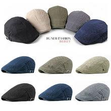 New Mens Hat Berets Cap Golf Driving Sun Flat Cap Fashion Cotton Berets Caps for Men Casual Peaked Hat Visors Casquette Hats