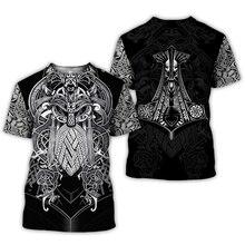 2020 Новая Летняя мода Viking тату футболка мужская рубашка Викинг один 3D принт забавная Футболка Harajuku повседневные уличные футболки топы