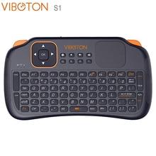 Беспроводная мини-клавиатура VIBOTON S1, 2,4G, воздушная мышь с тачпадом для ТВ-приставки на Android, мини-ПК, Полная QWERTY клавиатура для X96mini KM3