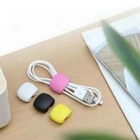 5pcs solid color cable winder organizer desk set wire data line holder line fixer winder wrap cord desk accessories stationary