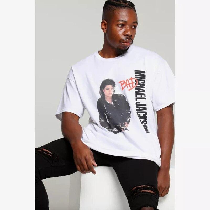 Michael Jackson T Shirt michael jackson tour camiseta Retro Rock Thriller, el rey del Pop Michael Jackson recuerdo Tee camisa
