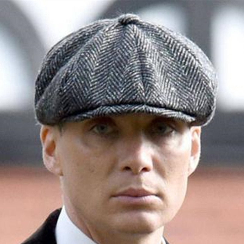 Wool Newsboy Caps Men Herringbone Flat Caps Gatsby Cap Woolen Golf Driving Hats Vintage Inspired Hat