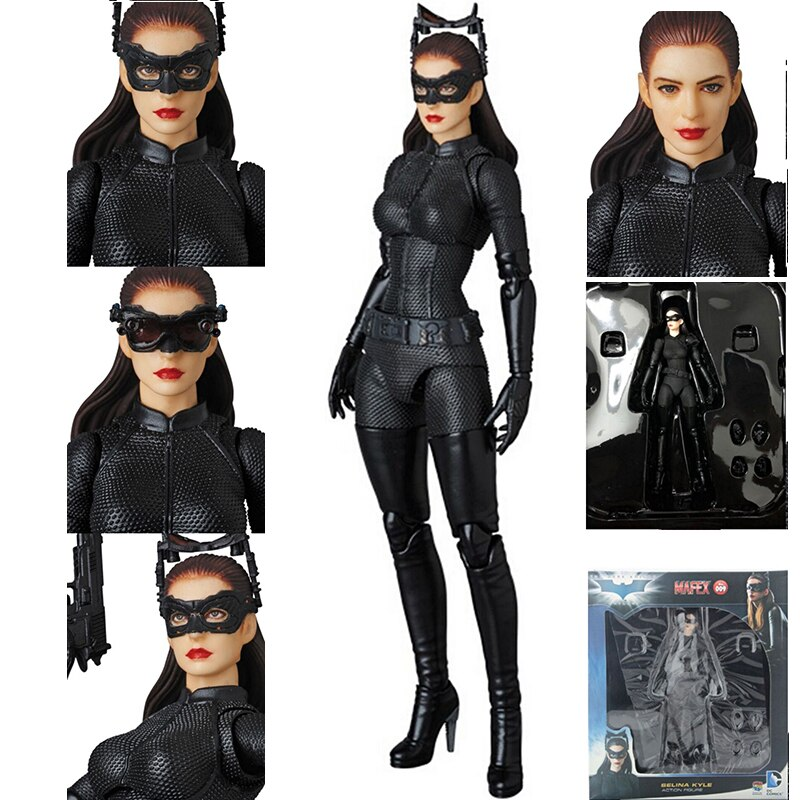 Mafex-figura de acción de DC Comics, The Dark Knight Rises, Catwoman, Selina, muñecos coleccionables de 15cm