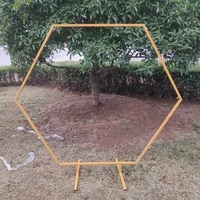 hexagon wedding arch backdrop stand flower arch party backdrop arch stand decoration birthday baby shower supplies