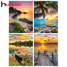 Huacan diamant broderie vente paysage strass photos diamant peinture plein carré lac paysage mosaïque point de croix