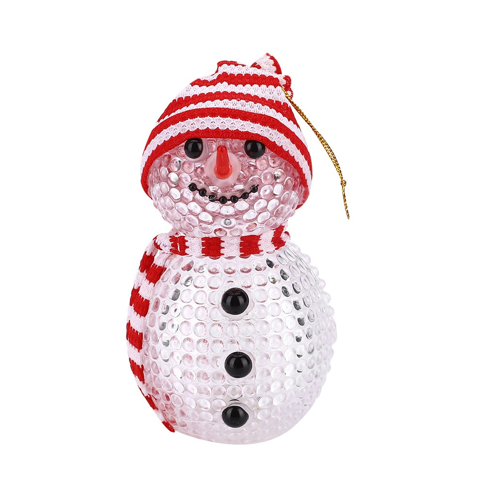 Night Light LED Snowman ABS Flashing Christmas New Year Gift Cute Arrvials