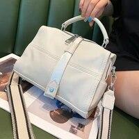 split leather womens bag new 2021 brand top handle handbag tote crossbody sholder bolsa office designer messenger sacs