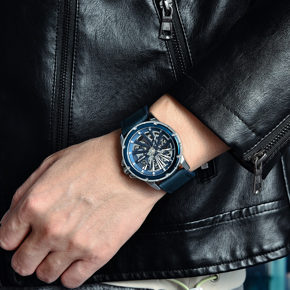 New Watch Men's Watch Fully Automatic Mechanical Watch Double-sided Hollow Men's Watch 5173 Fashion Hot enlarge