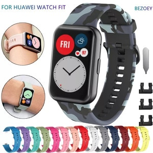 Replacement Rubber Strap for Huawei Watch Fit Band Sport Smart Waterproof Wrist Watchband Bracelet Accessories for Huawei Fit