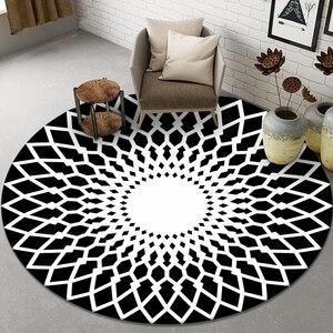 Nordic Стиль геометрический прикроватный коврик для спальни тапочки отличного качества; Области коврик фланель анти-скольжение стул коврик круглый Гостиная ковры