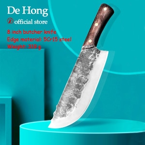 Household meat cleaver for meat cutting multi-purpose knife hand-forged kitchen knife Longquan old kitchen knife chef knife