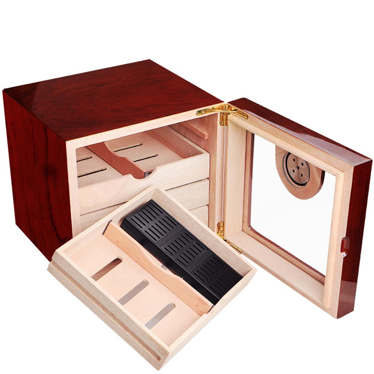 COHIBA Spanish Cedar Solid wood Cigar Humidor 4 Layers Cigar Box Cabinet With Humidifier Hygrometer High Glossy Cigar Humidor enlarge