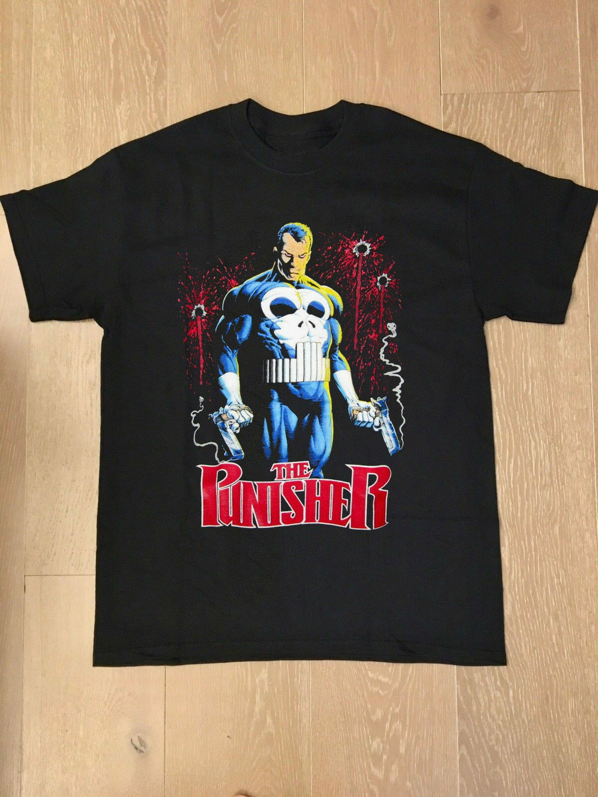 Camiseta de The Punisher con diseño de calavera y balas, de estilo retro, de Spiderman, atreve, Devil + 10, regalo gratuito