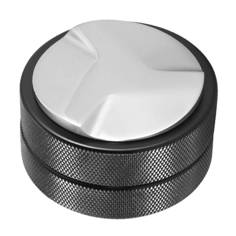 T21D 51 مللي متر الفولاذ المقاوم للصدأ القهوة موزع مستوي أداة المطبخ معكرون سدادة قهوة حبوب البن الصحافة أداة القهوة مسحوق