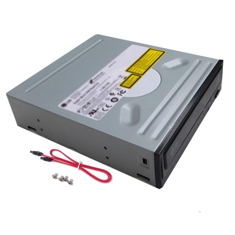 LG-محرك أقراص DVD Rewriter ، أسود ، واجهة SATA 24x ، كمبيوتر سطح المكتب ، عالمي