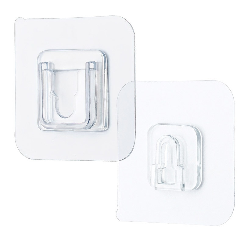 Double-Sided Adhesive Wall Hook Hanger Plastic Strong Suction Waterproof Cup Sucker Storage Key Kitchen Self Holder Bath Gadget  - buy with discount
