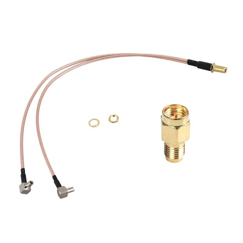 1 Uds SMa macho enchufe a RP-SMa hembra conector adaptador coaxial de RF Y 1 Uds SMa hembra a Y tipo 2 x TS9 macho/CRC9 macho conector Spl