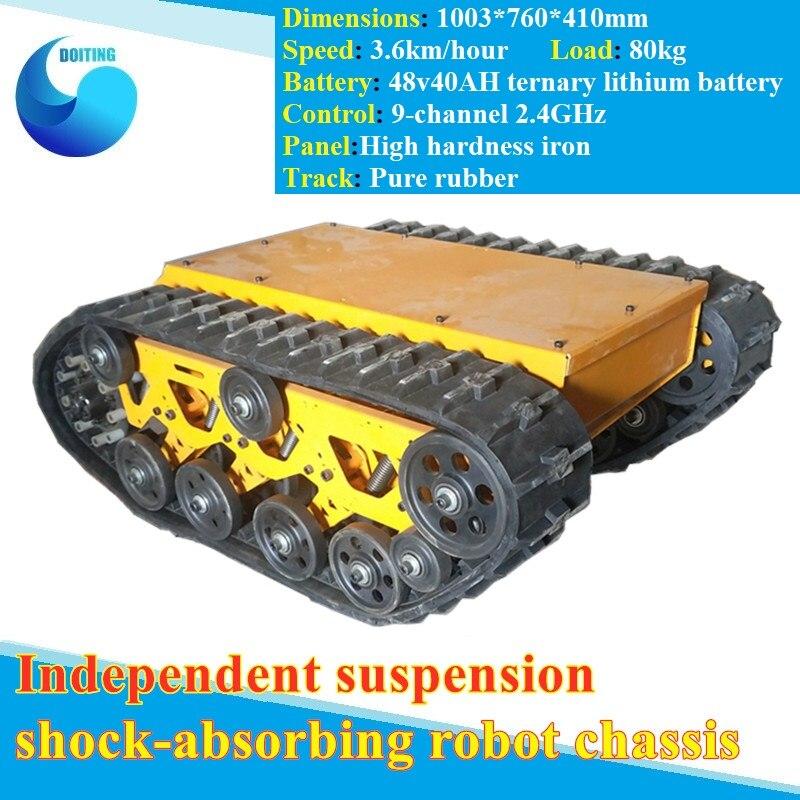 Dhl suspensão independente robô chassi rc móvel rastreado veículo rastreador de carga pesada independente sistema pendente bandeira