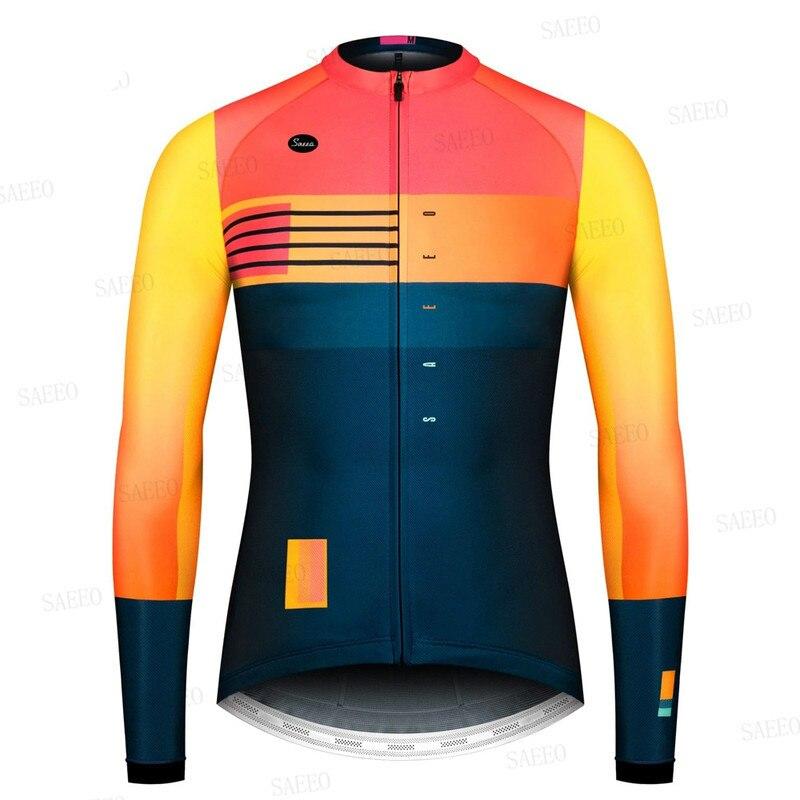 Ropa de Ciclismo para hombre, equipo profesional de manga larga, transpirable, para...