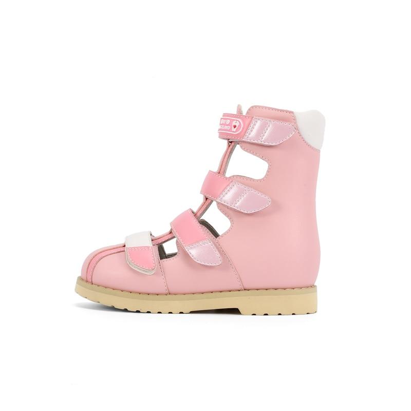 Ortoluckland Toddler Girls Melissa Sandals For Kid Tiptoe Shoes Orthopedic Children Baby Nice High Heel Footwear with Flower enlarge