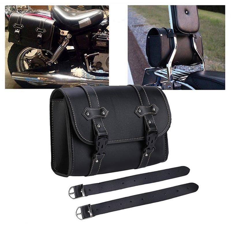 Universal Motorcycle Bag Saddle Side PU Leather Saddlebag Luggage Bag Storage For Honda Suzuki davidson Motors Tool Pouch