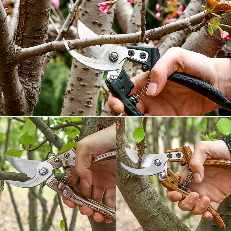 DTBD SK5 Garden Pruning Shears Tree Trimmers Secateurs Hand Pruner Clippers Garden Scissors Easy Pruners  Garden Tools