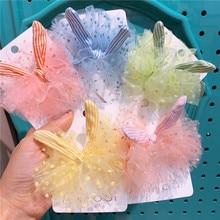 2020 New Korean Big Lace Princess Girl's Hair Clip Rabbit Ear Duck Mouth Clip Handmade Hair Pins Jwellery For Girls Hair Pin