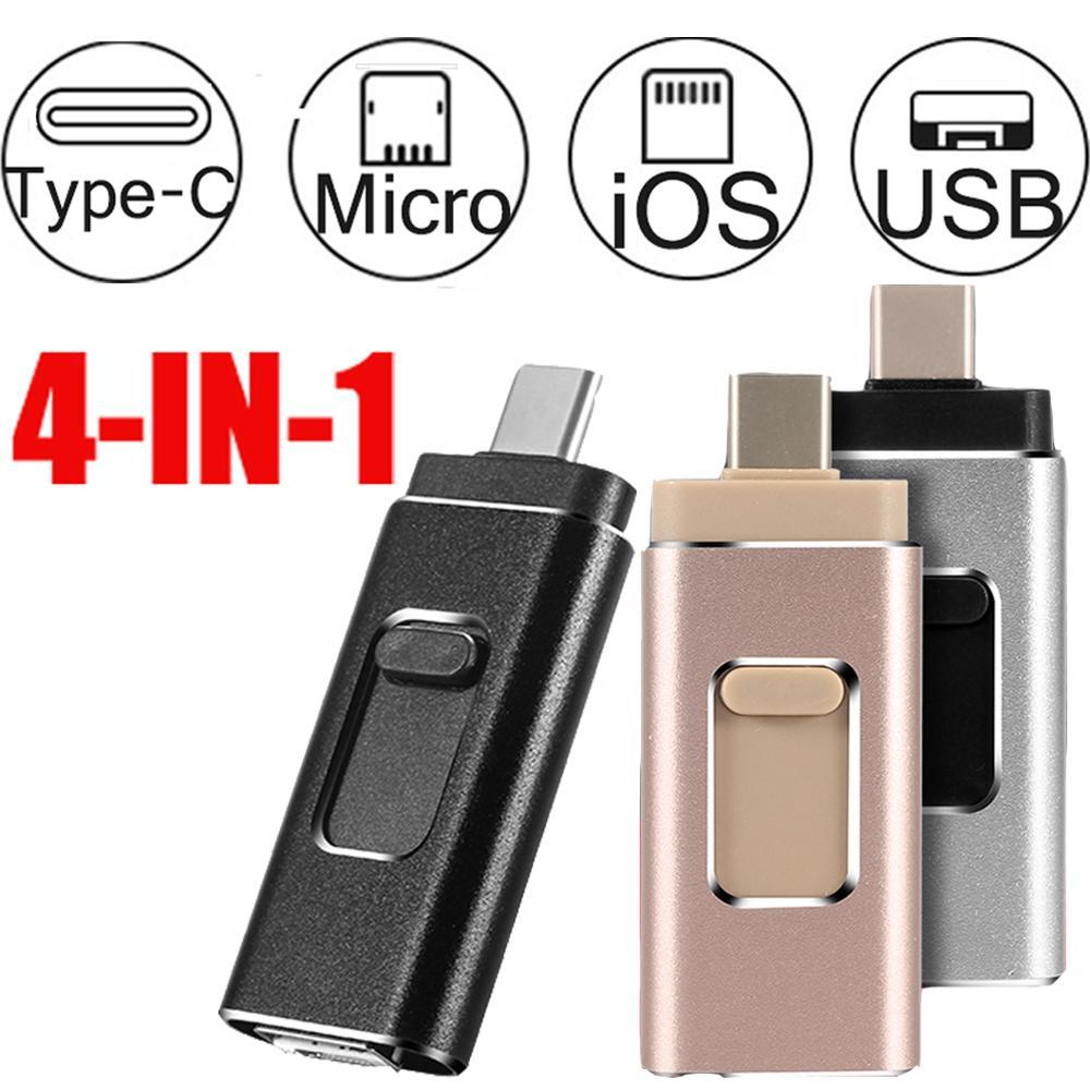 USB Flash Drive foto para el iphone teléfono android tipo c Micro SD de 128GB 32GB 64GB 256GB TF tarjeta lápiz de memoria usb 3,0 pendrive
