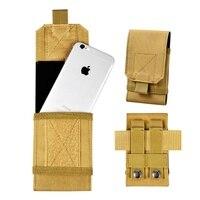 5,5 дюймовый чехол для телефона с системой «Молле», тактический держатель для телефона, уличная спортивная поясная сумка для охоты, бега, чех...