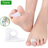 feet care overlapping toe separator silicone gel toe separator thumb foot valgus protector bunion adjuster hallux valgus guard