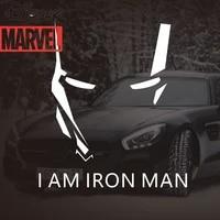 disney marvel marvers the avengers car sticker car personality creative iron man rear windshield body door electric car sticker