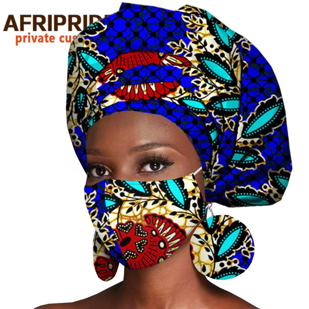 عمامة أفريقية مطبوعة A20H004 ، إكسسوارات شعر ، وشاح ، قماش شمع أنقرة ، غطاء رأس ، قناع